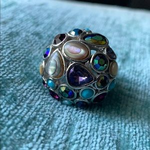 Lia Sophia multicolored round ring